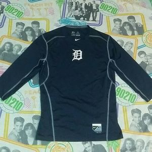 Nike Detroit Tigers Fitted Pro Combat Jersey Shirt
